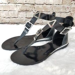 EUC Zara Trafaluc Buckle Sandals